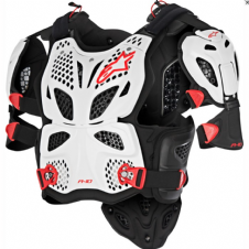 ALPINESTARS A10 FULL CHEST PROTECTOR WHITE/BLACK/RED
